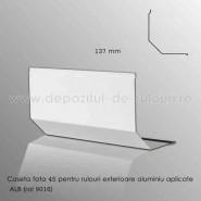 Casete rulouri exterioare aluminiu aplicate fata 137mm alb ral 9016