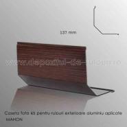 Casete rulouri exterioare aluminiu aplicate fata 137mm mahon