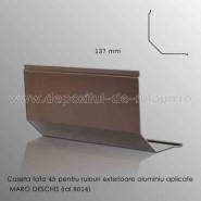 Casete rulouri exterioare aluminiu aplicate fata 137mm maro deschis ral 8014