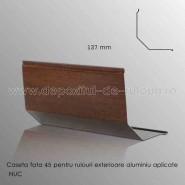 Casete rulouri exterioare aluminiu aplicate fata 137mm nuc