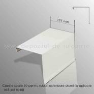 Casete rulouri exterioare aluminiu aplicate spate 137mm alb ral 9016