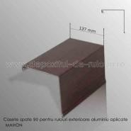 Casete rulouri exterioare aluminiu aplicate spate 137mm mahon