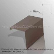 Casete rulouri exterioare aluminiu aplicate spate 137mm maro deschis ral 8014