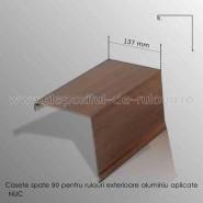 Casete rulouri exterioare aluminiu aplicate spate 137mm nuc