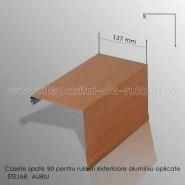 Casete rulouri exterioare aluminiu aplicate spate 137mm stejar auriu