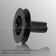Fulie ax 40 pentru rulouri exterioare aluminiu aplicate 165mm