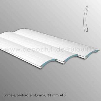 Lamele rulouri exterioare aluminiu 39 mm perforate alb ral 9016
