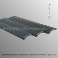 Lamele rulouri exterioare aluminiu 39 mm perforate gri antracit ral 7016