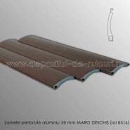 Lamele rulouri exterioare aluminiu 39 mm perforate maro deschis ral 8014