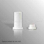 Opritori externi 40mm alb