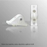 Rola snur pentru rulouri exterioare aluminiu aplicate alb