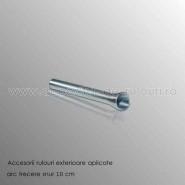 Arc 100 mm trecere snur prin fereastra pentru rulouri aplicate
