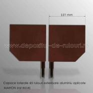 Capace laterale 45 grade pentru rulouri exterioare aluminiu aplicate 137 mahon ral 8016