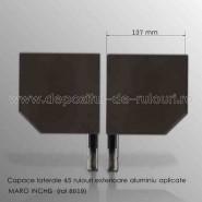 Capace laterale 45 grade pentru rulouri exterioare aluminiu aplicate 137 maro inchis