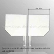 Capace laterale 45 grade pentru rulouri exterioare aluminiu aplicate 165 alb