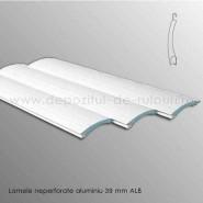 Lamele rulouri exterioare aluminiu 39 mm neperforate alb ral 9016
