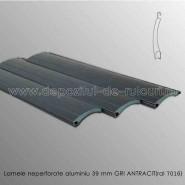 Lamele rulouri exterioare aluminiu 39 mm neperforare gri antracit ral 7016