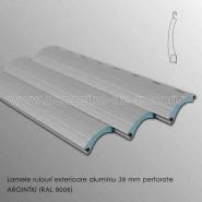 Lamele rulouri exterioare aluminiu 39 mm perforate argintiu ral 9006