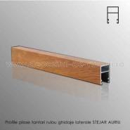 Plase tantari rulou ghidaje laterale aluminiu stejar auriu