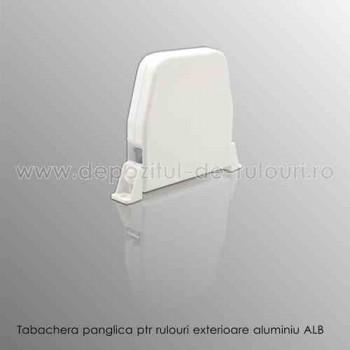 Tabachera panglica pentru comanda rulouri exterioare aluminiu alb